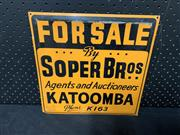 Sale 9092 - Lot 1022 - Early FOR SALE metal sign (h:30 x w:30cm)