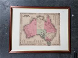 Sale 9127 - Lot 2018 - Johnson & Ward Johnsons Map of Australia c1860
