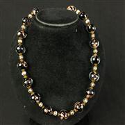 Sale 8402D - Lot 29 - Aventurine Glass Necklace (Length - 44cm)