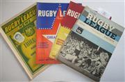 Sale 8404S - Lot 37 - 1966 Rugby League News Programmes - Vol. 47, Nos. 7, 12, 15, 16, 17, 19, 21, 23, 27 (Australia v Great Britain)