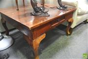 Sale 8418 - Lot 1050 - Square Mahogany Coffee Table
