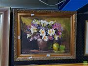 Sale 8613 - Lot 2050 - Artist Unknown, Still Life, Oil, SLL, 29x39cm