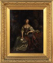 Sale 8804A - Lot 135 - Artist Unknown, possibly C17th - Portrait of a Lady 49cm x 37cm