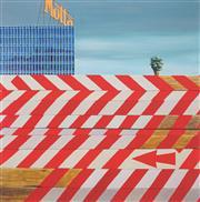 Sale 8901A - Lot 5022 - Jeffrey Smart (1921 - 2013) - The Red Arrow II, 1973 59.3 x 59 cm
