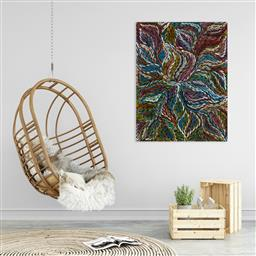 Sale 9171A - Lot 5090 - ROSEMARY (PITJARA) PETYARRE (c1965 - ) Yam Leaf Dreaming acrylic on canvas 120 x 91 cm (stretched and ready to hang) signed verso; c...