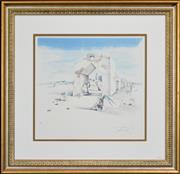 Sale 8301A - Lot 95 - Salvador Dali (1904 - 1989) - Paranoic Village 47.5 x 50cm