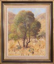 Sale 8338A - Lot 57 - Betty Ozborne - Tree in the Bush 49 x 39cm