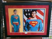 Sale 8582 - Lot 2141 - Framed Signed Picture of Christopher Reeves (Certificate To Back)