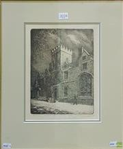 Sale 8600 - Lot 2034 - Artist Unknown (English School) - Hutchins, Hobart, Winter Time etching, ed. 32/60, 25 x 18.5cm, signed lower right -