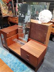 Sale 8684 - Lot 1037 - G-Plan Teak Quadrille Dressing Table with Long Mirror