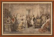 Sale 8887 - Lot 94 - After V De Paredes, chromolithographic print of Napoleon and Josephine in the bridal chambers