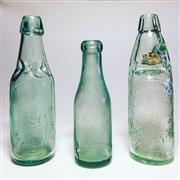 Sale 8878T - Lot 36 - Joseph Wilkinson, Gateshead and Sunderland Unusal Patent Lemonade Cod-Type Bottle Sealed with Ledge-Mouth Internal Stopper & Two Oth...