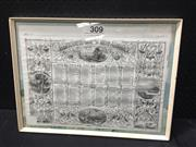 Sale 9053 - Lot 2067 - Framed London News, 45 x 60 cm