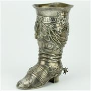 Sale 8332 - Lot 42 - English Hallmarked Sterling Silver Victorian Boot Chalice
