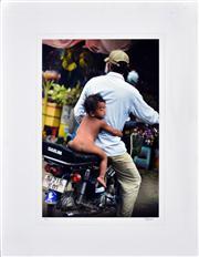 Sale 8347A - Lot 92 - Banjo McLaughlin (XX) - Untitled (Motorbike Ride) 53 x 35cm