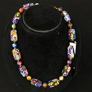 Sale 8402D - Lot 30 - Murano Glass Millefiori Necklace (Length - 41cm)