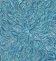 Sale 8449A - Lot 510 - Janet Golder Kngwarreye (1973 - ) - Bush Yam Leaves 95 x 88cm