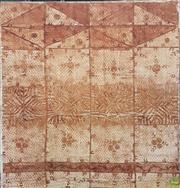 Sale 8601 - Lot 1565 - Mounted Tongan Tapa Cloth