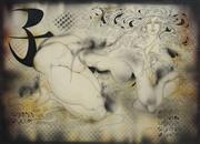 Sale 8738 - Lot 583 - Anatolij Brusilovski (1932 - ) - Untitled 1978 (Year of the Rat) 64 x 86cm