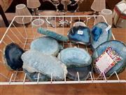 Sale 8724 - Lot 1090 - Basket of Blue Agates
