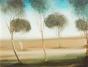 Sale 8773 - Lot 526 - Kevin Charles (Pro) Hart (1928 - 2006) - Scrub Study 28.5 x 36.5cm