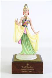 Sale 8935 - Lot 34 - Royal Doulton Figure of Balinese Dancer from the series Dancers of the World HN2808, Limited ed. no. 124 of 750, with stand and box