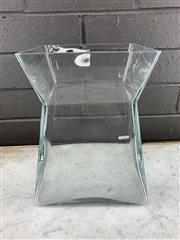 Sale 9056 - Lot 1042 - Vintage Scandinavian Glass Pala Variant Vase, possibly Helena Tynell for Riihimaki (;25.5cm)