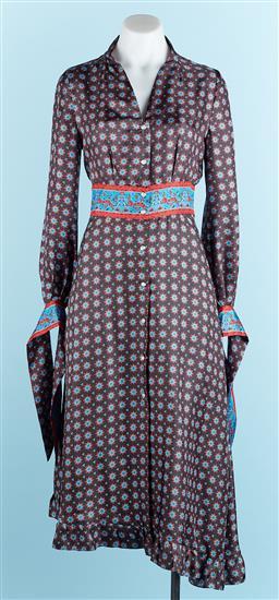 Sale 9091F - Lot 92 - A SANDRO PARIS, printed silk dress, size S