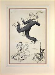 Sale 8330A - Lot 96 - Georges Goursat (1863–1934) (2 works) - Rag Time 49.5 x 33cm, each (sheet size)