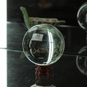 Sale 8369 - Lot 30 - Glass Ball On Stand