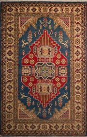 Sale 8447C - Lot 57 - Afghan kazak 150cm x 95cm