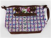 Sale 8514H - Lot 4 - Guatemalan Hand-Made Leather & Cloth Weekend Bag