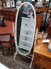 Sale 8676 - Lot 1067 - Shabby Chic Cheval Mirror