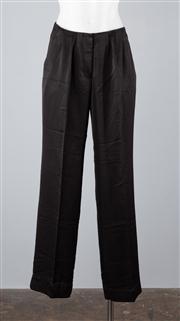 Sale 8685F - Lot 88 - A pair of Lisa Ho pleated, black acetate-blend satin pants, size AUS 6