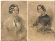 Sale 8738 - Lot 598 - Artist Unknown (C19th) (2 works) - Portraits of Noblewomen 44.5 x 29cm, each