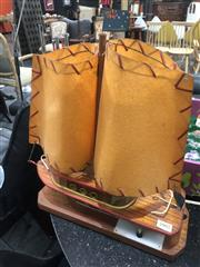 Sale 8801 - Lot 1029 - Vintage Ship Form Lamp