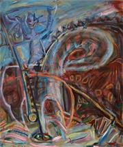Sale 8980A - Lot 5021 - Ian McDonald - Golfer, 1997 109 x 90 cm (total 109 x 90 x 4 cm)