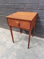 Sale 9039 - Lot 1029 - Teak Parker Single Drawer Bedside Chest (h:57 x w:40 x d:40cm)