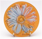 Sale 9052 - Lot 90 - Rosenthal Andy Warhol Glass Plate Dia 20cm