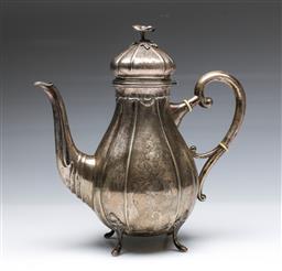 Sale 9093 - Lot 80 - Danish Silver Coffee Pot (H26.5cm, total wt.657g) with Johannes Sigsgaard Assayers mark