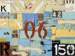 Sale 9174JM - Lot 5013 - MICHAEL JEFFERY (1965 - ) Shackle mixed media on canvas 120 x 160 cm signed lower centre; signed, titled and dated verso