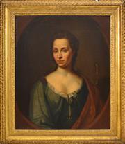 Sale 8382 - Lot 570 - René Auguste Constantyn (active 1712 - 1726) - Judith Clerembault (nee Bosquet), 1717 74 x 61.5cm