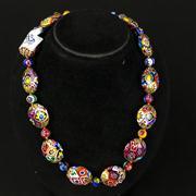 Sale 8402D - Lot 31 - Murano Glass Millefiori Necklace (Length - 44cm)