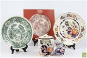 Sale 8521 - Lot 168 - Masons Ceramic Plates And Jar