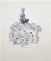 Sale 8573 - Lot 2096 - Norman Lindsay (1879 - 1969) (6 works) - Portfolio of Pen Drawings (for the The Daily Mirror, 1969) 34 x 41.5cm