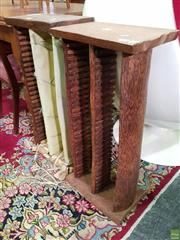 Sale 8562 - Lot 1034 - Pair of Coconut Wood CD Stands