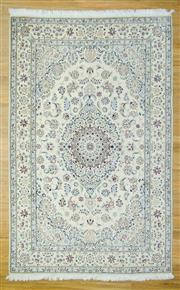Sale 8589C - Lot 31 - Persian Nain Silk Inlay, 318x200