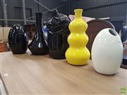 Sale 8601 - Lot 1302 - Collection of Five Varied Modern Vases