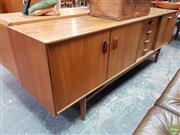 Sale 8625 - Lot 1057 - Exceptional Fresco Teak Sideboard (H: 72 W: 206 D: 48cm)