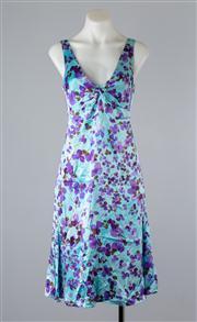 Sale 8685F - Lot 98 - An Emporio Armani sleeveless, printed silk sundress, size TG 40